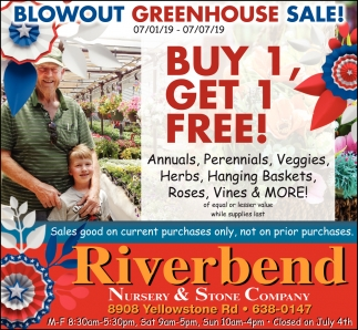 Blowout Greenhouse Sale