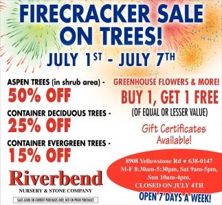 Firecracker Sale On Trees