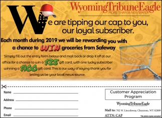 We are Tipping Our Cap to You