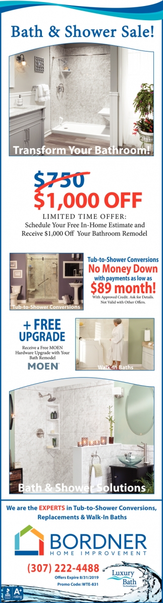 Bath & Shower Sale