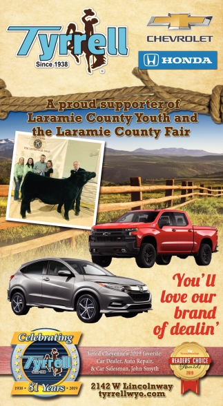 A Proud Supporter of Laramie County Youth
