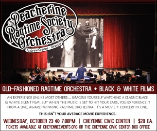 Old-Fashioned Ragtime Orchesta + Black & White Films