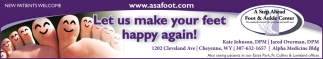 Let Us Make Your Feet Happy Again!