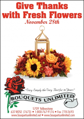 Give Thanks with Fresh Flowers