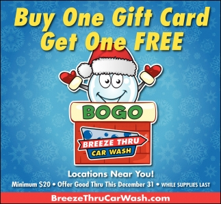 Buy One Gift Card. Get One FREE