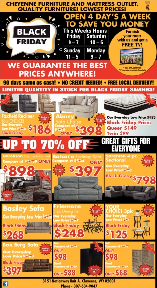 Black Friday Cheyenne Furniture And Mattress Outlet Cheyenne Wy