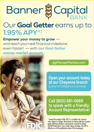 Our Goal Getter Earns Up to 1.95% APY*!