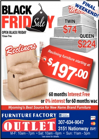 Ads For Furniture Factory Outlet In Cheyenne, WY