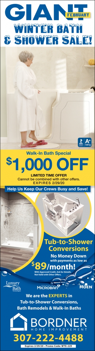 Winter Bath & Shower Sale!