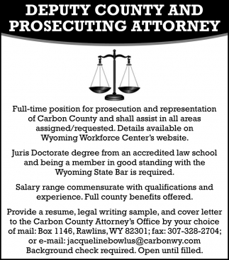 Full-Time Position for Prosecution and Representation