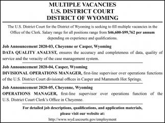 Multiple Vacancies