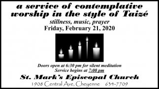 A Service of Contemplative Worship in the Style of Taizé