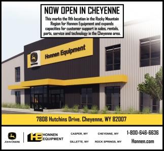 Now Open in Cheyenne
