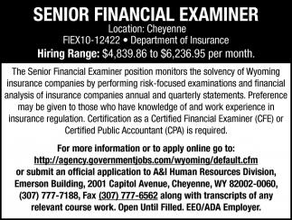 Senior Financial Examiner