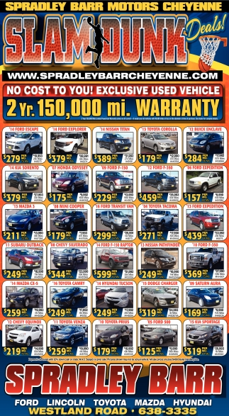 No cost to you! Exclusive used vehicle