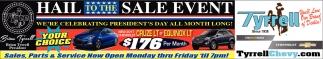 Hail Sale Event