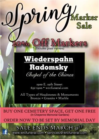Spring Marker Sale