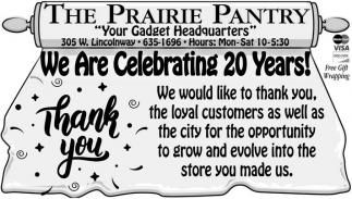 We are celebrating 20 years!