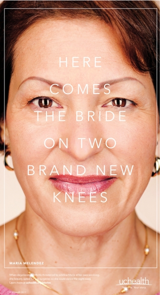 Here comes the bride on two brand new knees